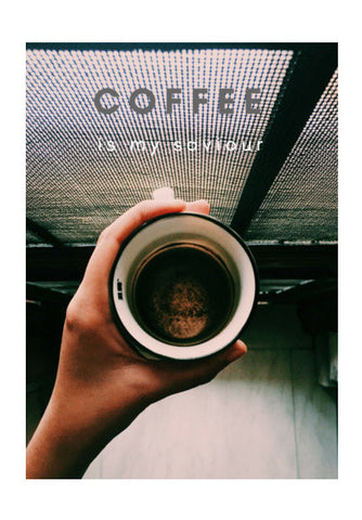 Coffee is my saviour  Wall Art | Artist : nandita sharma