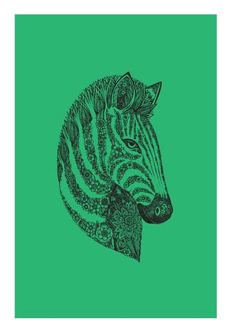 Floral Zebra Head Wall Art PosterGully Specials