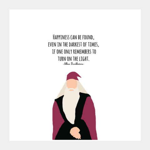 Square Art Prints, Albus Dumbledore Square Art Prints | Artist : Naeema Rezmin, - PosterGully