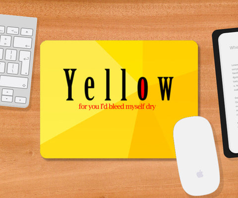 Mousepad, Yellow - Coldplay Mousepad | Artist : Aishwarya Tandon, - PosterGully