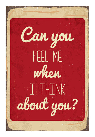 Can You Feel Me When I Think About You Wall Art | Artist : Creative DJ