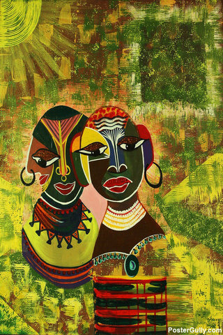 Wall Art, Tribe Acrylic Artwork | Artist: Sunanda Puneet, - PosterGully - 1