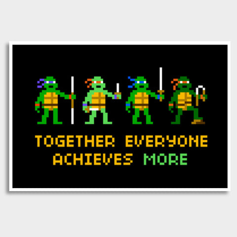 Pixelvana - Together everyone achieves more pixel motivation poster Giant Poster | Artist : 8bitbaba