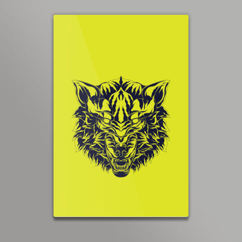 Wolf Head Metal Prints | Artist : Inderpreet Singh