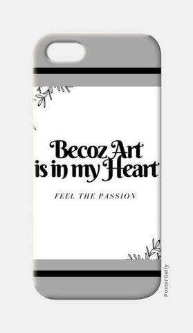 Art is in my heart iPhone 5 Cases | Artist : Pallavi Rawal