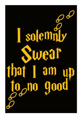 PosterGully Specials, Harry Potter | I Solemnly Swear that i am up to no good Wall Art | Artist : Manju Nk, - PosterGully