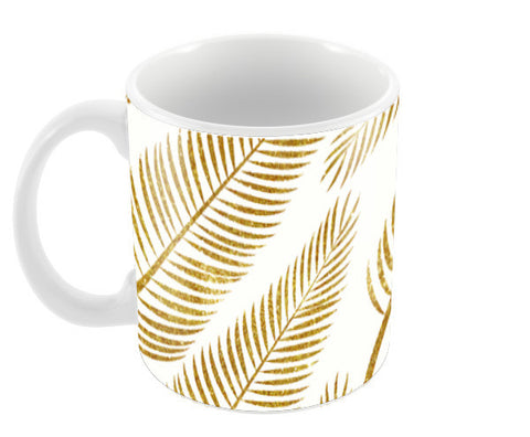 Golden Palm Coffee Mugs | Artist : Uma Gokhale