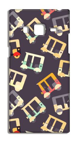 Auto rickshaw quirky pattern Samsung Galaxy Z3 Cases | Artist : Designerchennai