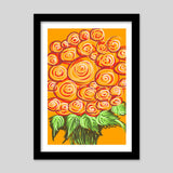 Premium Italian Wooden Frames, Swirls and flowers ! Premium Italian Wooden Frames | Artist : Shakthi Hari, - PosterGully - 2