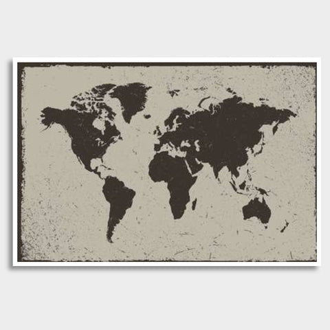 Deep Black Tropical World Map Giant Poster | Artist : Inderpreet Singh