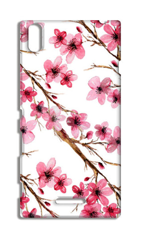 Elegant Pink Cherry Blossoms Design Floral Pattern Sony Xperia T3 Cases | Artist : Seema Hooda