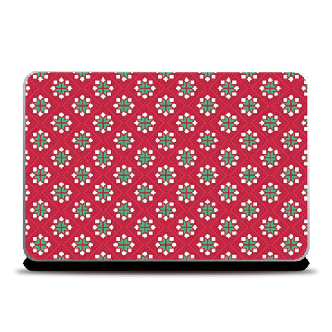Abstract red and green pattern Laptop Skins | Artist : Amantrika Saraogi