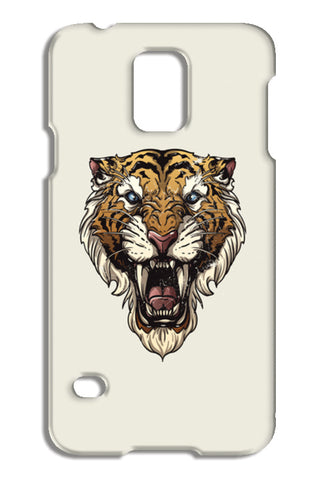 Saber Toothed Tiger Samsung Galaxy S5 Cases | Artist : Inderpreet Singh