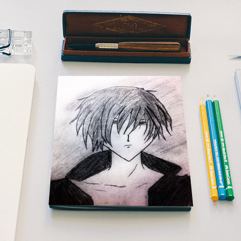 Anime Boy | Pencil Sketch | Notebook | Artist : Nandini Rawat