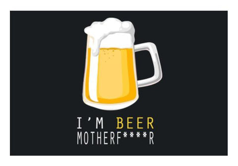 PosterGully Specials, I'm BEER Wall Art | Artist : Ayush Yaduv, - PosterGully
