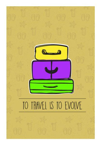PosterGully Specials, To Travel Is to Evolve Wall Art | Artist : Stuti Bajaj, - PosterGully