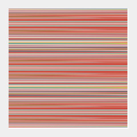 Abstract Horizontal Colorful Thin Stripes Pattern Background Square Art Prints | Artist : Seema Hooda