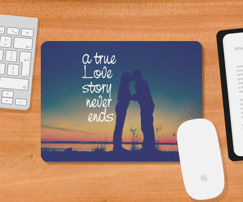 A True Love Story Mousepad | Artist : Abhishek Bhardwaj