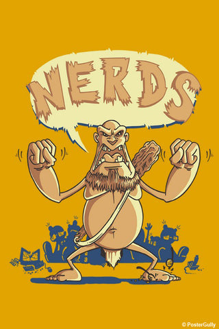 Wall Art, Ogre Hates Nerds Orange | By Captain Kyso, - PosterGully - 1