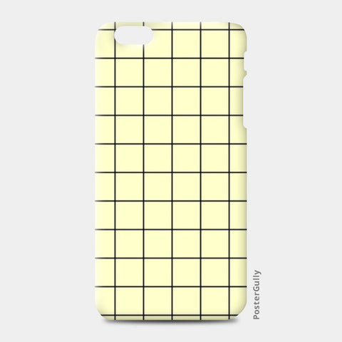 Cream minimalist checks pattern iPhone 6 Plus/6S Plus Cases | Artist : Gauri Deshpande