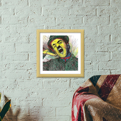 Good Morning Charlie! Premium Square Italian Wooden Frames | Artist : Pop Goes The Easel