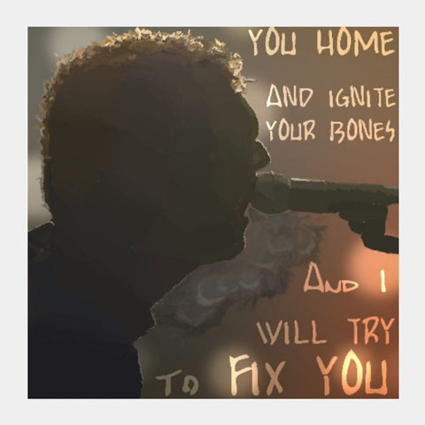 Square Art Prints, Fix You | Coldplay Square Art | Artist: Armaan Sandhu, - PosterGully
