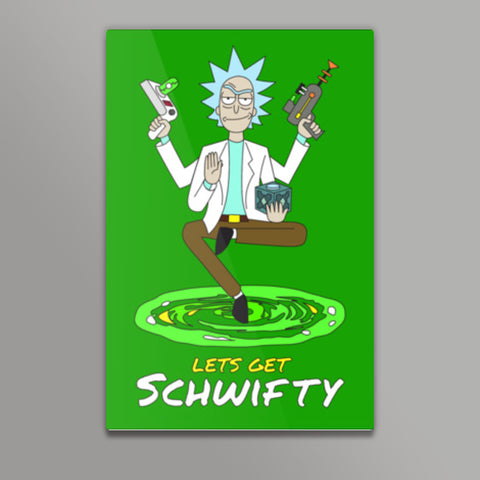Hey Morty, lets get Schwifty Metal Prints | Artist : 8bitbaba