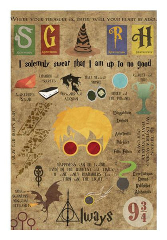 PosterGully Specials, Harry Potter Typography | Artist : Aishwarya S | PosterGully Specials, - PosterGully