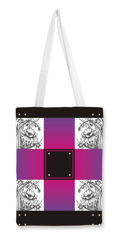 Floral Doodle Design (Colour option 2) Tote Bags | Artist : Nirali Mehta