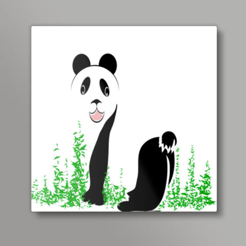 THE PANDA is a symbol of gentleness and strength. it is an auspicious symbol of peace, harmony Square Metal Prints | Artist : amit kumar