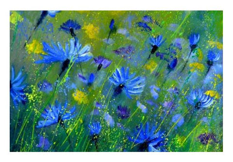 PosterGully Specials, Blue cornflowers 5551 Wall Art | Artist : pol ledent | PosterGully Specials, - PosterGully