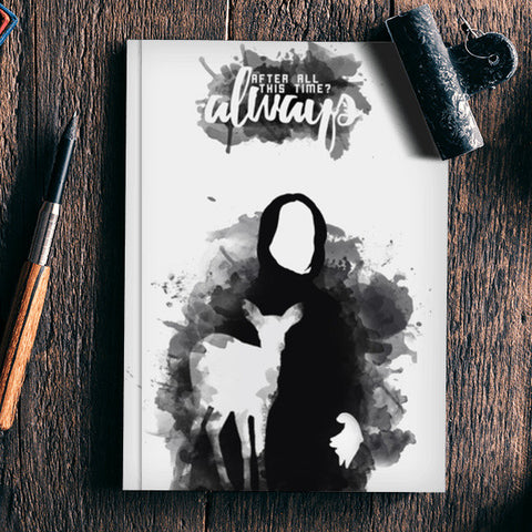 Harry Potter-Snape ALWAYS quote Notebook | Artist : Naeema Rezmin