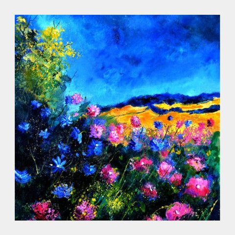 Square Art Prints, Pink wild flowers 45 Square Art Prints | Artist : pol ledent, - PosterGully