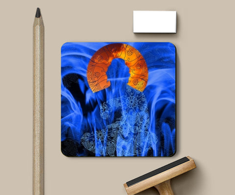 Buddha Sea Art Coasters | Artist : Tiny Dots
