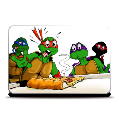 Laptop Skins, Ninja Turtles - Pizzaaa!!! Laptop Skins | Artist : Paul D' Rozario, - PosterGully