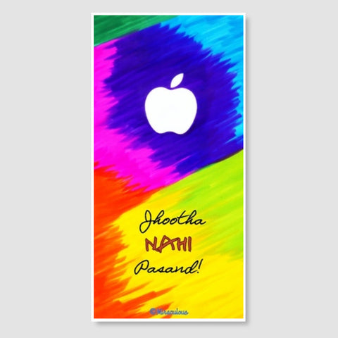 Apple Perfection - Jhootha Nahi Pasand Door Poster | Artist : Miraculous