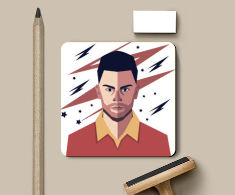 Virat Kohli abstract geometric  Coasters | Artist : mohit lakhmani