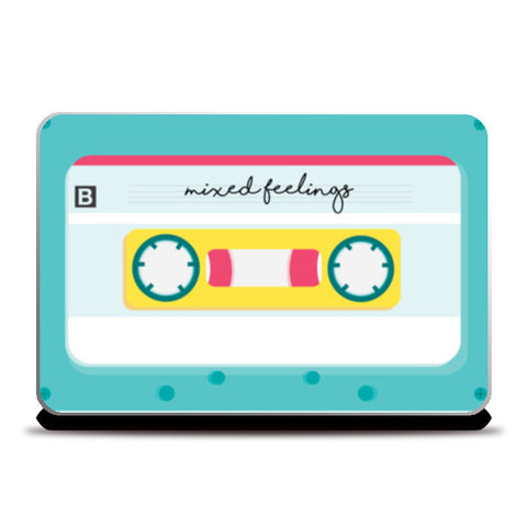 mixed tape Laptop Skins | Artist : Shloka Bajaj