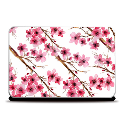 Laptop Skins, Cherry Blossom Floral Design Laptop Skin l Artist: Seema Hooda, - PosterGully
