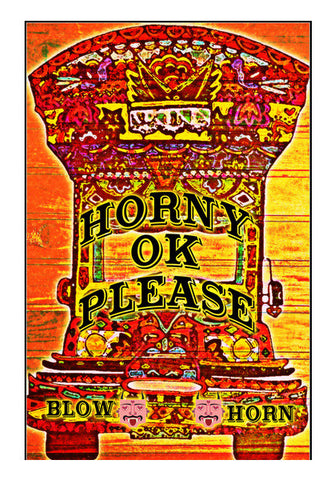 Funny Horny Please Wall Art | Artist : Rockpire Designs