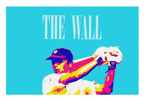 PosterGully Specials, THE WALL DRAWID CRICKET INDIA WORLD CUP Wall Art | Artist : dooo, - PosterGully