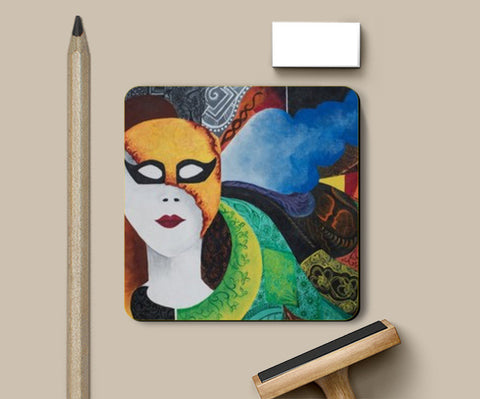 The Mask Coasters | Artist : Shweta Ektare