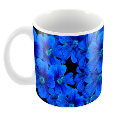 Blue Flowers Coffee Mugs | Artist : Anil Kumar K