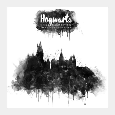 Harry Potter-Hogwarts | B&W Square Art Prints | Artist : Naeema Rezmin
