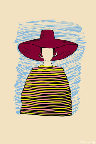 Wall Art, Hat Girl Fashion Artwork, - PosterGully - 1