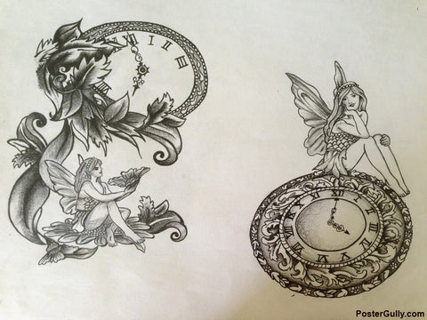 Wall Art, Clock Angle Artwork | Artist: Pallavi Dahiya, - PosterGully - 1