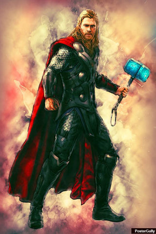 Wall Art, Thor Avengers Artwork | Artist: Amit Kumar, - PosterGully - 1