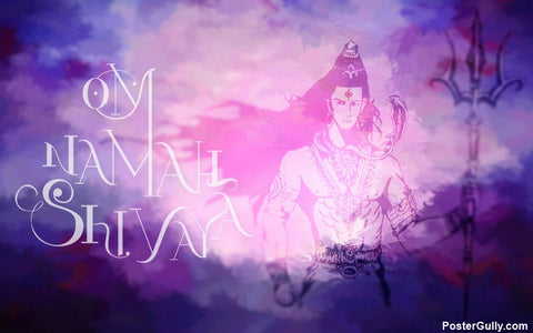 Wall Art, Om Namah Shivaya Artwork | Artist: Akshay Kamble, - PosterGully - 1