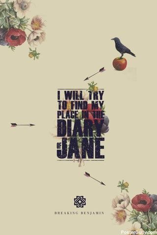 Wall Art, Diary Of Jane Artwork | Artist: Jaydhrit Sur, - PosterGully - 1