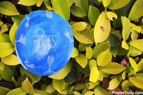 Brand New Designs, Blue Leaf Artwork | Artist: Annushka Hardikar, - PosterGully - 1